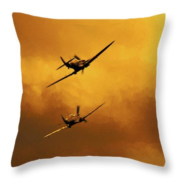 Spitfire Sunset Throw Pillow