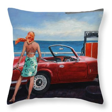 Spitfire Throw Pillow by Theo Michael