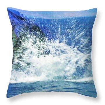 Splash Throw Pillow by Anna Villarreal Garbis