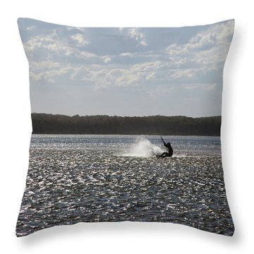 Throw Pillow featuring the photograph Splash At Lake Wollumboola by Miroslava Jurcik