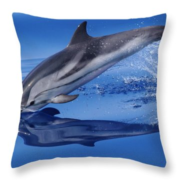 Throw Pillow featuring the photograph Splash Down by Richard Patmore