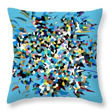 Throw Pillow featuring the digital art Splash by Eleni Mac Synodinos