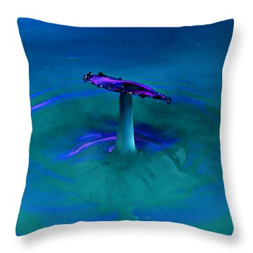 Throw Pillow featuring the photograph Splash Frozen In Time by James Sage