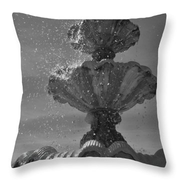 Splash I Throw Pillow by Anna Villarreal Garbis