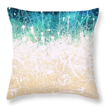 Splash Throw Pillow by Jaison Cianelli