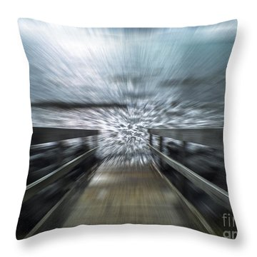 Splash Throw Pillow by Karen Lewis