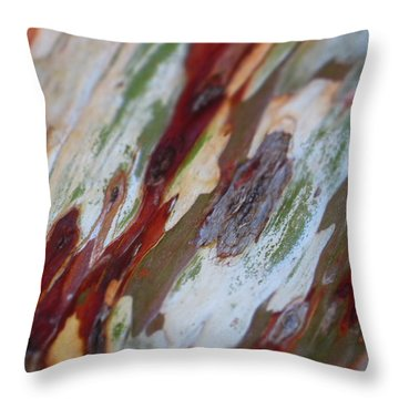 Splash Of Amber Throw Pillow