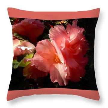 Splash Of Begonia Throw Pillow