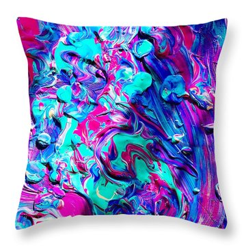 Splash Of Color Throw Pillow