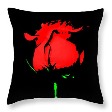 Splash Of Ink Throw Pillow