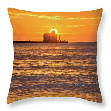 Throw Pillow featuring the photograph Splash Of Light by Bill Pevlor