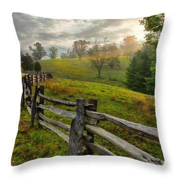 Throw Pillow featuring the photograph Splash Of Morning Light by Dan Carmichael