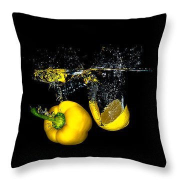Splash Of  Pepper And Lemon Throw Pillow