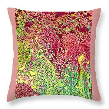 Splash Of Red - Heart Of Pele Throw Pillow