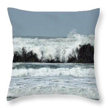 Throw Pillow featuring the photograph Splash by Peggy Hughes