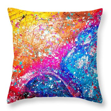 Throw Pillow featuring the painting Splash by Piety Dsilva