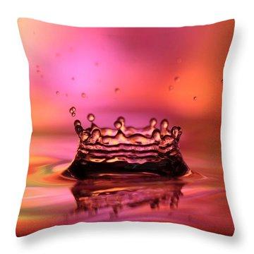 Splash Throw Pillow by Sabrina L Ryan