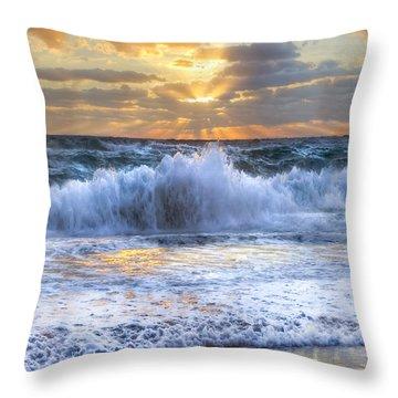 Splash Sunrise II Throw Pillow