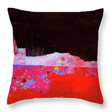 Splash#3 Throw Pillow by Jane Davies