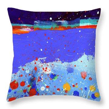 Splash#5 Throw Pillow by Jane Davies