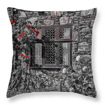 Splashes Of Red Throw Pillow