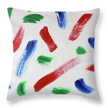 Splatter Throw Pillow