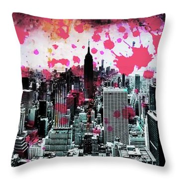 Splatter Pop Throw Pillow