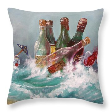 Splattered Wine Throw Pillow