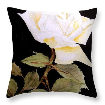 Splender In White Throw Pillow
