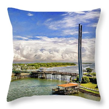 Splendid Bridge Throw Pillow