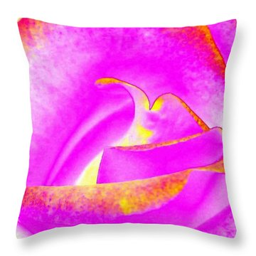 Throw Pillow featuring the mixed media Splendid Rose Abstract by Will Borden
