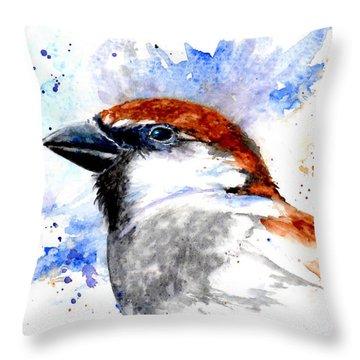 Splendid Sparrow Throw Pillow