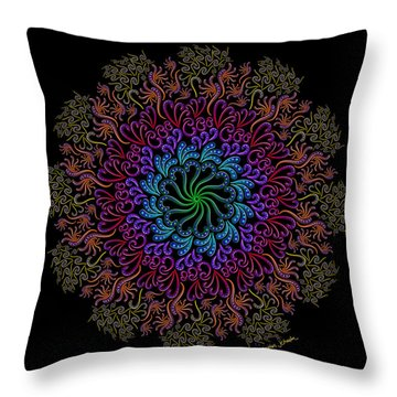 Splendid Spotted Swirls Throw Pillow