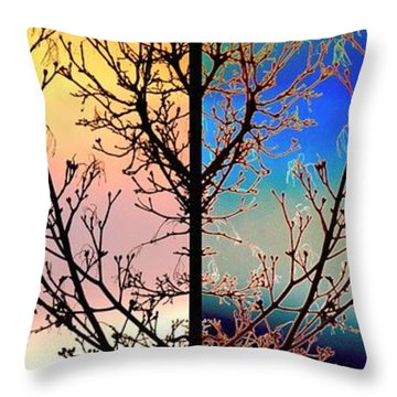 Throw Pillow featuring the digital art Splendid Spring Fusion by Will Borden