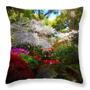 Splendor By The Water's Edge Throw Pillow