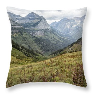 Throw Pillow featuring the photograph Splendor From Highline Trail - Glacier by Belinda Greb