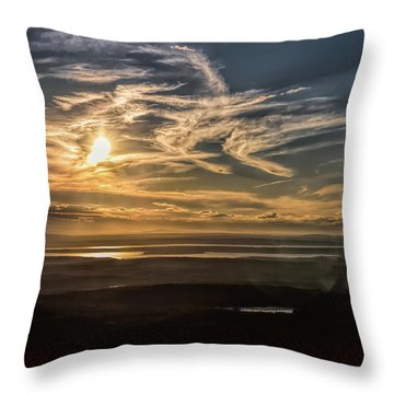 Throw Pillow featuring the photograph Splendorous Sunset by John M Bailey