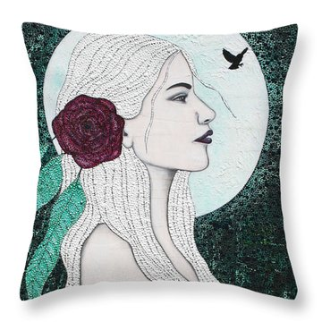 Throw Pillow featuring the mixed media Splendour by Natalie Briney