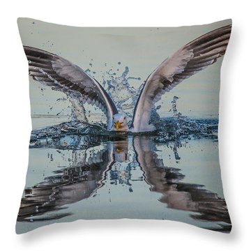 Splish-splash Throw Pillow
