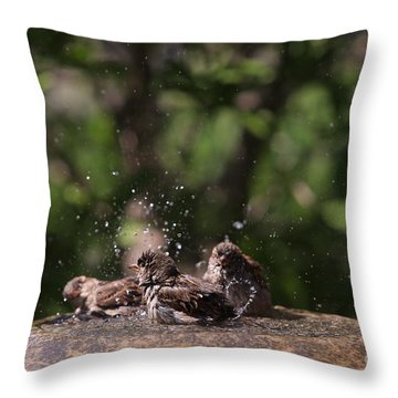 Throw Pillow featuring the photograph Splish Splash by Kate Purdy