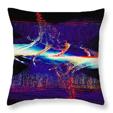 Split Infinity Throw Pillow