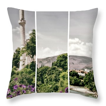 Split Landscape Throw Pillow by Ana Mireles