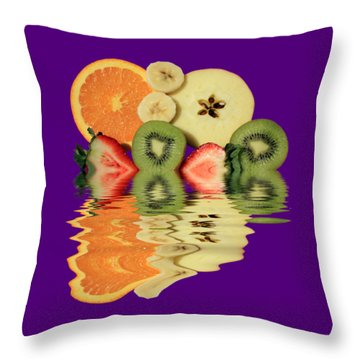 Split Reflections Throw Pillow