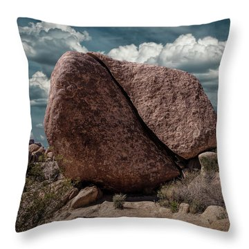 Throw Pillow featuring the photograph Split Rock In Joshua Tree National Park by Randall Nyhof