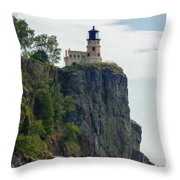Split Rock Lightouse Throw Pillow