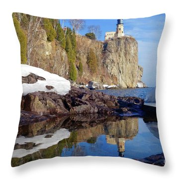 Split Rock Reflections Throw Pillow