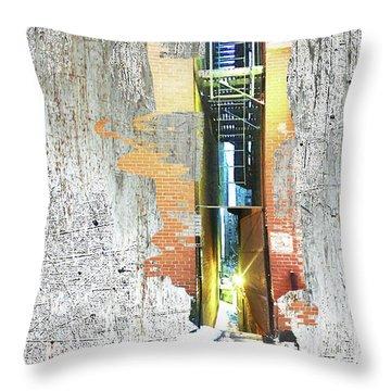 Throw Pillow featuring the mixed media Split by Tony Rubino
