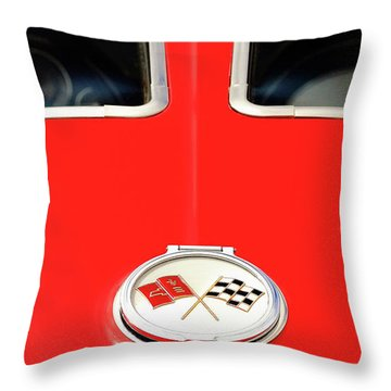 Split Window Throw Pillow