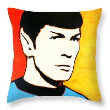 Spock Vulcan Star Trek Pop Art Throw Pillow by Bob Baker