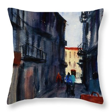 spofford Street5 Throw Pillow by Tom Simmons
